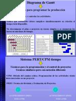 D.gantt, CPM, PERT, Árbol Decisión