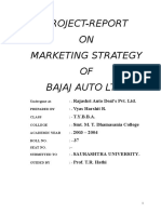 BAJAJA AUTO (Marketing Mix)