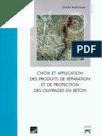 CHOIX ET APPLICATION DES PRODUITS DE REPARATION DES OUVRAGE EN BETON.pdf