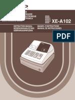 Caja Rejistradora Sharp XE-A102 Spanisch