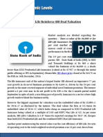 The Numbers of SBI Life Reinforce SBI Deal Valuation