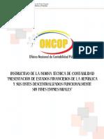 Instructivo 1 Presentacion de Estados Financieros