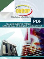 Plan de Cuentas Patrimoniales Descripcion de Cuentas y Subcuentas 30062016 Final