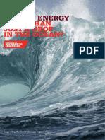 Marine Energy Report