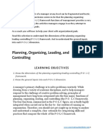 3 Planning Organizing Leading Controlling