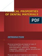 Physical Properties of Dental Materials