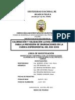 Calibracion y Validacion Lluvia-escorrentia Para La Prevision de Inundaciones en La Cuenca Experimental Del Rio Ichu