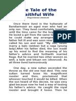 The Tale of the Faithful Wife