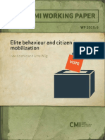 5607 Elite Behaviour and Citizen Mobilization