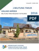Kabupaten Belitung Timur Dalam Angka 2016