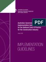 National Code DEEWR Implementation Guidelines 2009