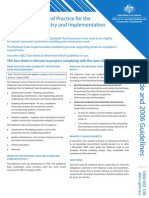 The National Code of Practice for the Construction Industry and Implementation Guidelines