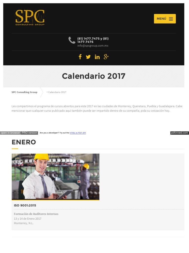 Html Calendario.Spcgroup Mx Calendario