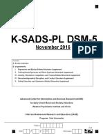 Ksads Dsm 5 Screen Final