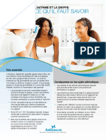 Asthma and Influenza - What You Need to Know Flyer French