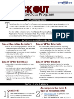 Junior ExeCom Program 2010 Application Guide