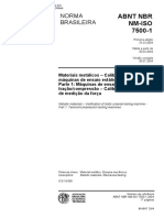 NBR ISO 7500-1-2004 Materiais Metalicos Calibracao de Maquinas de Ensaio