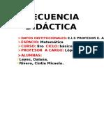 Secuencia didáctica sobre clasificación de Triángulos
