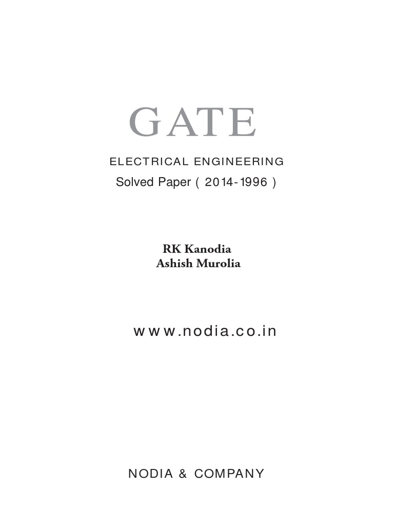 Gate Electrical 2015 Solved Paper By Kanodiapdf Series And Above Ill 1 Ac Powered Solenoid Coils Controlled A Triac In An Parallel Circuits Capacitor