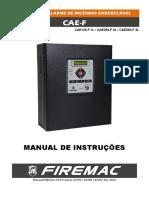 Manual Central Alarme Incendio Endereçavel Cae f 500