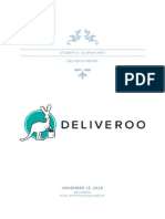 Deliveroo Final Assignment