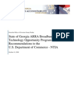 Georgia Filed NTIA - BTOP Recommendations