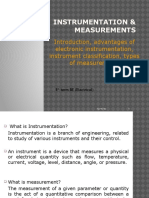 Introduction, Advantages of Electronic Instrumentation, Instrument Classification, Types of Measurement