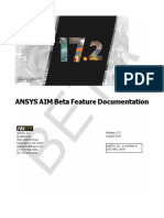ANSYS AIM Beta Feature Documentation