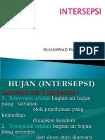 Intersepsi Hidrologi