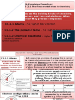 pixl knowledge test powerpoint- aqa c1 core science - legacy  2016 and 2017
