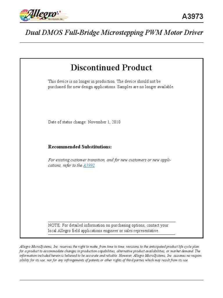 A3973 Datasheet Rectifier Mosfet Analog Timers Gururaj Products
