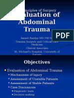 Evaluation of Abdominal Trauma