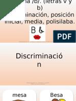 Imágenes Fonema b, Inicikal, Medio y Final