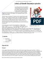 List of the Melancholy of Haruhi Suzumiya Episodes - Wikipedia