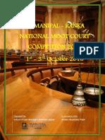 2nd Manipal Ranka Moot Brochure