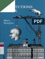 Mary Douglas How Institutions Think Syracuse University Press 1986