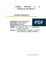 Antecedentes, conceptos y relación de Constitución, Estado y Gobierno