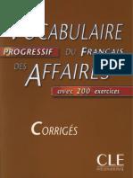 Vocabulaire progressif du français des affaires avec 200 exercices