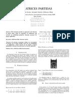 2.4 Matrices Partidas