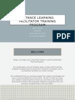 part iv - vital information in the facilitator training