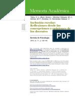 Talou, C. L. Inclusión Escolar. Reflexiones desde las concepciones y opiniones de los docentes (Investigación UNLP).pdf