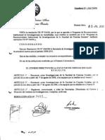 Proyecto Ciudad Participativa - Reconocimiento Institucional Facultad de Ciencias Sociales 2010-2012