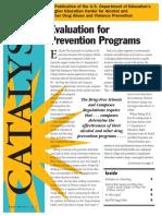 Evaluation for Prevention Programs