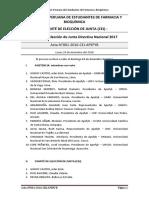Acta de Elección de JDN 2017