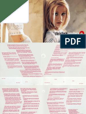 Christina aguilera lotus digital booklet