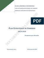 Plan Estratégico Gob. Honduras 2014-2018