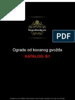 Ograde Od Kovanog Gvozdja - Katalog B1