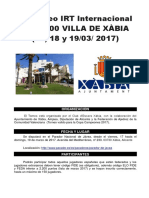 III Irt Internacional Sub-2200 Villa de Xabia 2017