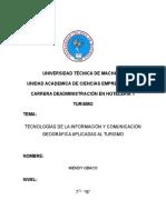 Tecnologías de Informacion y Comunicacion