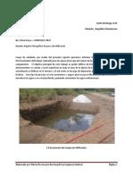 Reporte de Pozo de Infiltracion de La Planta de Tratamiento -Envirogold